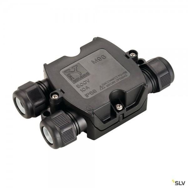SLV 228726 Verbindungsbox, 3er, schwarz, IP68, 6-11mm