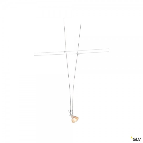 SLV 139071 Asmara, Seilsystem, Strahler, Edelstahl, weiß, GX5.3, max.35W