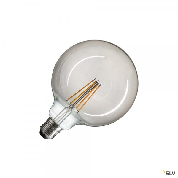 SLV 1003092 Leuchtmittel, Rauchglas, dimmbar Triac C, G125, E27, LED, 4W, 2700K, 440lm