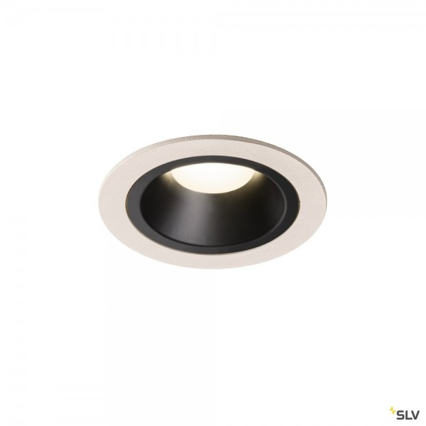 SLV 1003904 Numinos M, Deckeneinbauleuchte, weiß/schwarz, LED, 17,55W, 4000K, 1600lm, 40°