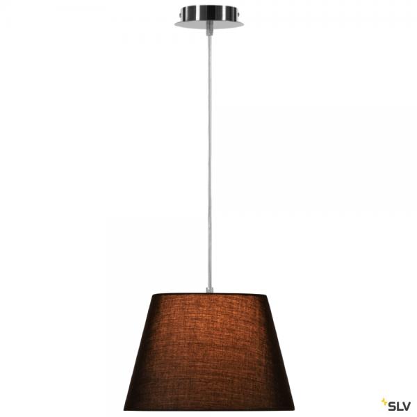 SLV 155562 + 156160 Fenda, Pendelleuchte, chrom/schwarz, Ø30cm, E27, max.60W