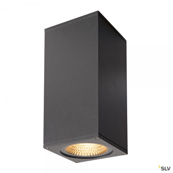 SLV 234505 Big Theo Wall, Wandleuchte, anthrazit, up&down, IP44, LED, 42W, 3000K, 4000lm