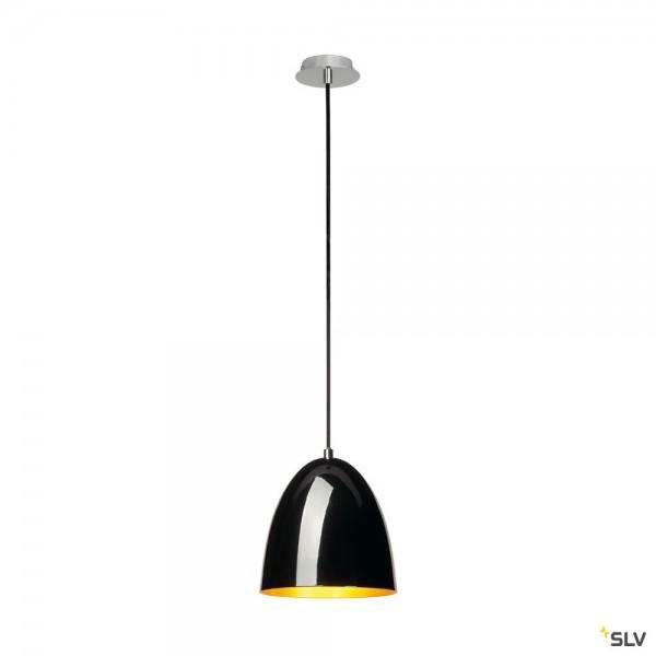 SLV 133050 Para Cone 20, Pendelleuchte, schwarz/gold, E27, max.60W