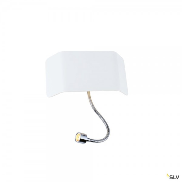 SLV 1000615 + 1000628 Mana 200, Wandleuchte, weiß, Schalter, up&down, LED, 11W, 3000K, 490lm
