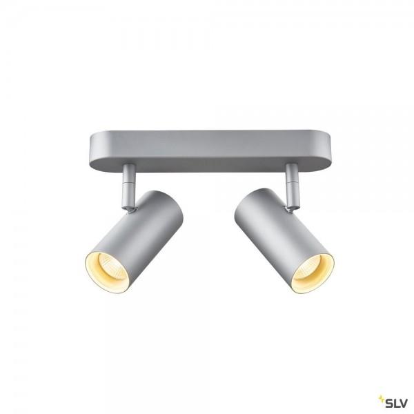 SLV 1002975 Noblo II, Strahler, silbergrau, dimmbar Triac C+L, LED, 16W, 2700K, 1200lm