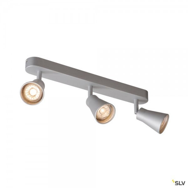 SLV 1000894 Avo 3, Strahler, silbergrau, QPAR51, GU10, max.3x50W