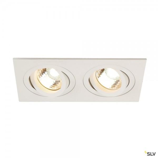 SLV 113512 New Tria 2, Deckeneinbauleuchte, weiß, QPAR51, GU10, max.2x50W