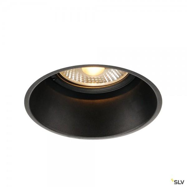 SLV 113170 Horn-T, Deckeneinbauleuchte, schwarz matt, QPAR111, GU10, max.75W