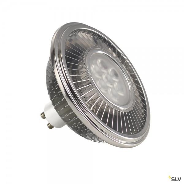 SLV 1001242 Leuchtmittel, aluminium, dimmbar, QPAR111, GU10, LED, 13W, 2700K, 1100lm, 30°