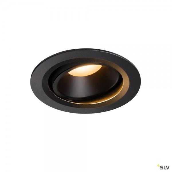 SLV 1003625 Numinos Move L, Deckeneinbauleuchte, schwarz, LED, 25,41W, 2700K, 2150lm, 20°