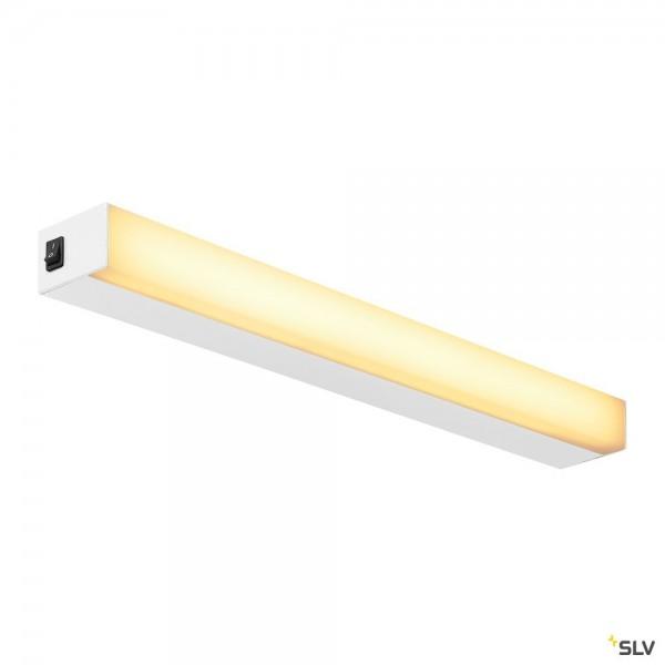 SLV 1001284 Sight 60, Wand- und Deckenleuchte, weiß, mit Schalter, LED, 20W, 3000K, 1490lm