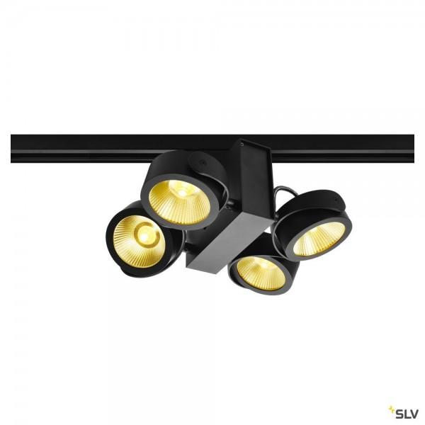 SLV 1001429 Tec Kalu 4, 3Phasen, Strahler, schwarz, dimmbar Triac C, LED, 60W, 3000K, 3800lm, 24°