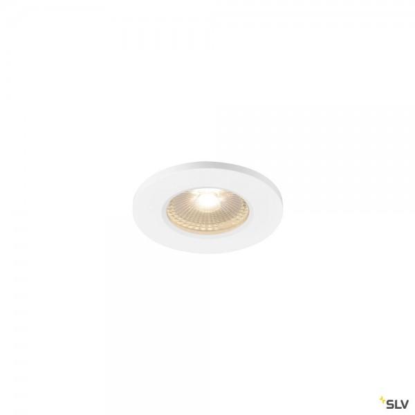 SLV 1001016 Kamuela, Deckeneinbauleuchte, weiß, IP65, dimmbar L, LED, 6,5W, 3000K, 400lm