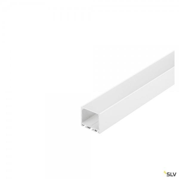 SLV 213631 Glenos 3030, Aufbauprofil, weiß matt, B/H/L 3,5x3,5x300cm, LED Strips max.B.3cm
