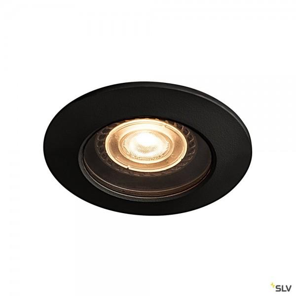 SLV 1001930 Varu, Deckeneinbauleuchte, schwarz, IP65, LED GU10, max.5W