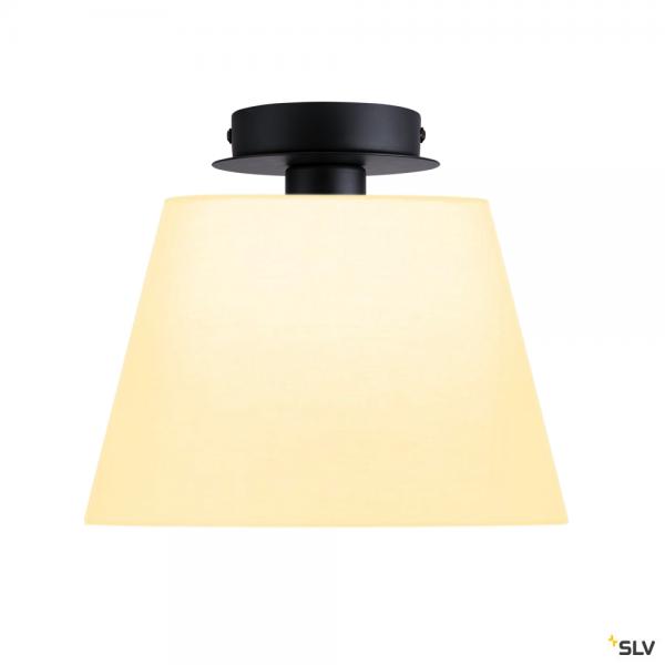 SLV 155550 + 156161 Fenda, Deckenleuchte, schwarz/weiß, Ø30cm, E27, max.60W