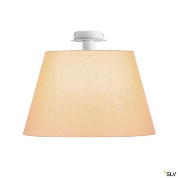 SLV 155551 + 156183 Fenda, Deckenleuchte, weiß/beige, Ø45,5cm, E27, max.60W