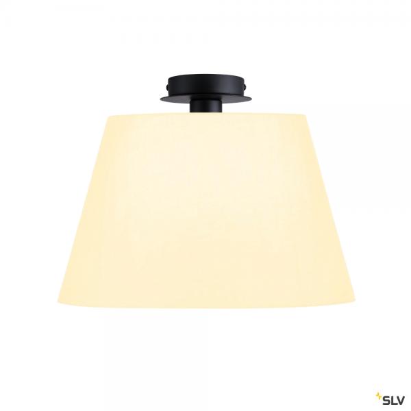 SLV 155550 + 156181 Fenda, Deckenleuchte, schwarz/weiß, Ø45,5cm, E27, max.60W