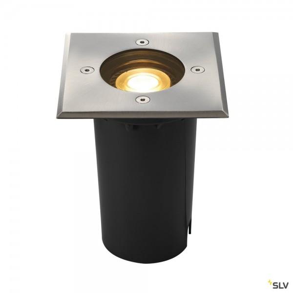SLV 227684 Solasto 120, Bodeneinbauleuchte, Edelstahl, IP67, LED GU10 51mm, max.6W