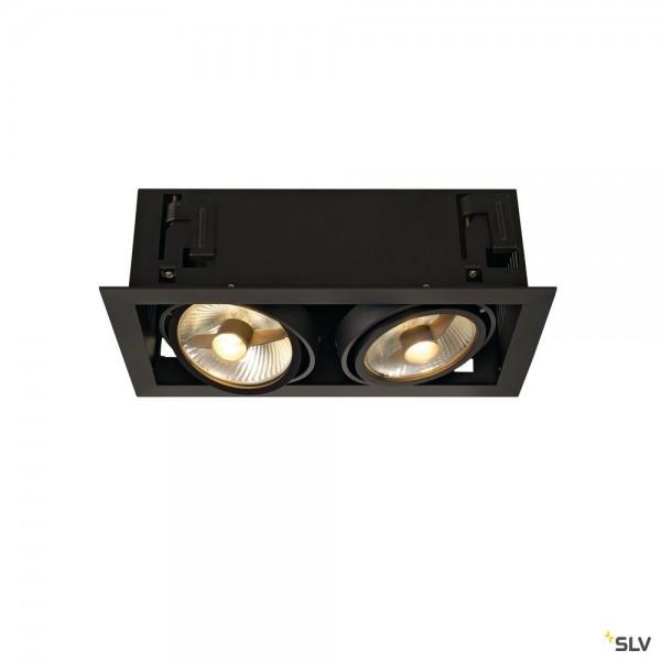 SLV 115550 Kadux 2, Deckeneinbauleuchte, schwarz matt, QPAR111, GU10, max.2x75W