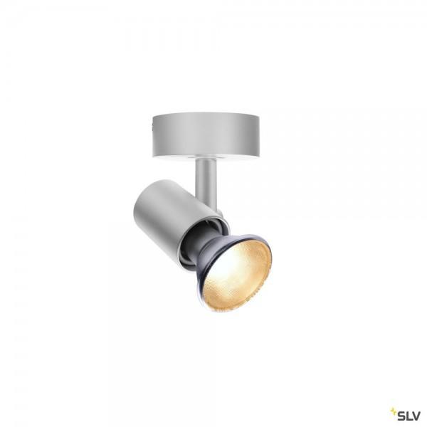 SLV 1002074 Spot E27, Strahler, silbergrau, QPAR20, E27, max.75W