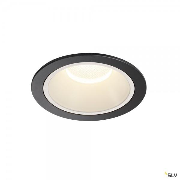 SLV 1004037 Numinos XL, Deckeneinbauleuchte, schwarz/weiß, LED, 37,4W, 4000K, 3800lm, 40°