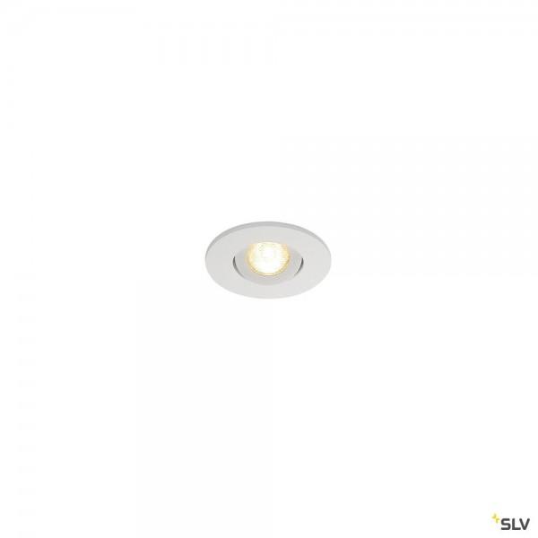 SLV 113971 New Tria Mini Set, Deckeneinbauleuchte, weiß matt, IP44, LED, 4,4W, 3000K, 143lm