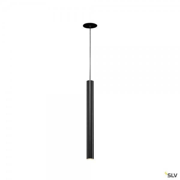 SLV 158410 Helia 45, Pendeleinbauleuchte, schwarz, LED, 9W, 3000K, 700lm