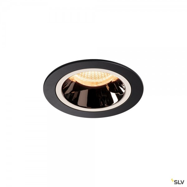 SLV 1003843 Numinos M, Deckeneinbauleuchte, schwarz/chrom, LED, 17,55W, 2700K, 1550lm, 20°