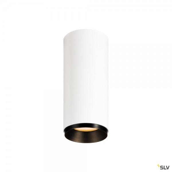 SLV 1004126 Numinos S, Deckenleuchte, weiß/schwarz, dimmbar C, LED, 10,42W, 2700K, 980lm, 24°