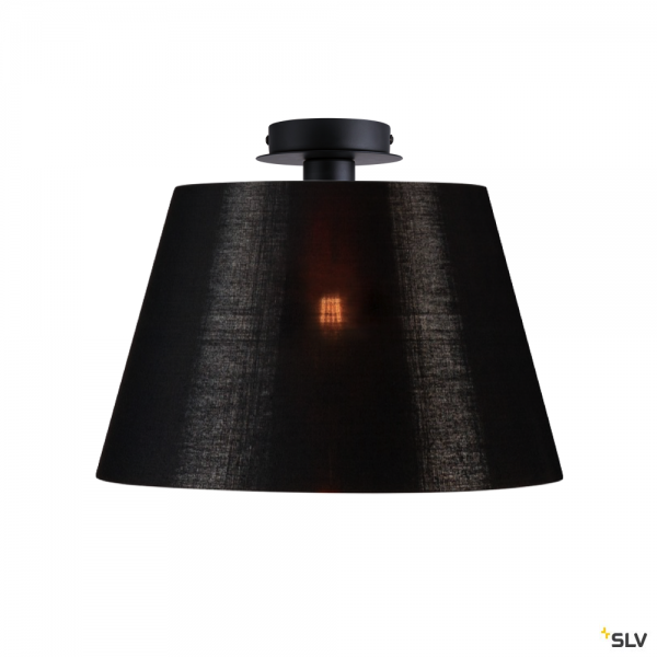SLV 155550 + 156192 Fenda, Deckenleuchte, schwarz/kupfer, Ø45,5cm, E27, max.60W