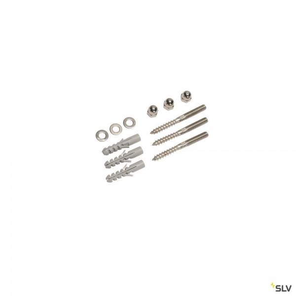 SLV 228753 Schraubenset, Edelstahl, Otos Glas, Slots