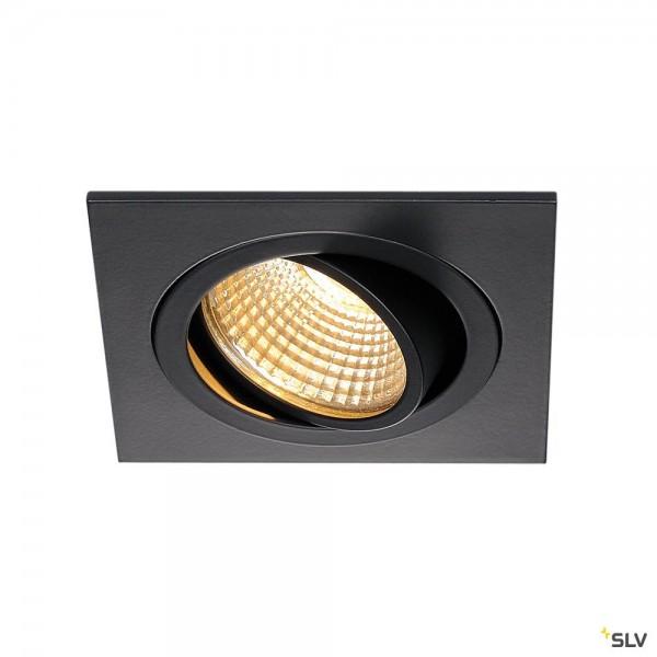 SLV 113880 New Tria 1 Set, Deckeneinbauleuchte, schwarz matt, LED, 8W, 2700K, 645lm