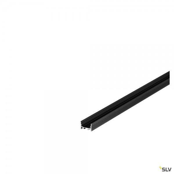 SLV 1000504 Grazia 3522, Aufbauprofil, schwarz, B/H/L 3,5x2,2x200cm, LED Strip max.B.1cm