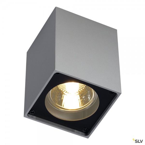 SLV 151514 Altra Dice, Deckenleuchte, silbergrau/schwarz, QPAR51, GU10, max.35W
