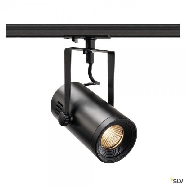 SLV 1001485 Euro Spot, 1Phasen, Strahler, schwarz, LED, 11W, 3000K, 650lm