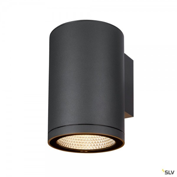 SLV 1003440 Enola Round L, Wandleuchte, anthrazit, IP65, LED, 35W, 3000K/4000K, 3400lm