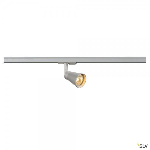 SLV 144204 Avo, 1 Phasen, Strahler, silbergrau, QPAR51, GU10, max.50W