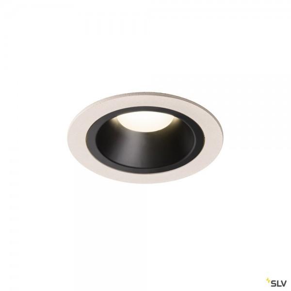SLV 1003907 Numinos M, Deckeneinbauleuchte, weiß/schwarz, LED, 17,55W, 4000K, 1600lm, 55°