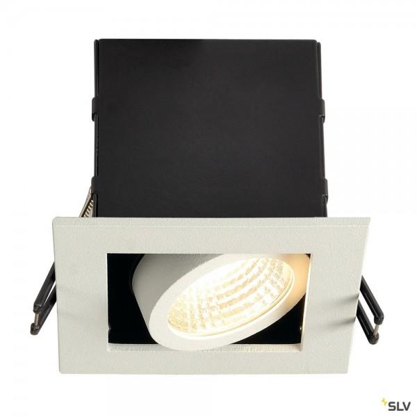 SLV 115701 Kadux 1 Set, Deckeneinbauleuchte, dimmbar Triac C+L, LED, 8,3W, 3000K, 650lm