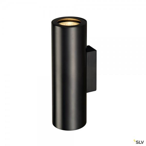 SLV 151800 Enola_B, Wandleuchte, schwarz, up&down, QPAR51, GU10, max.2x50W
