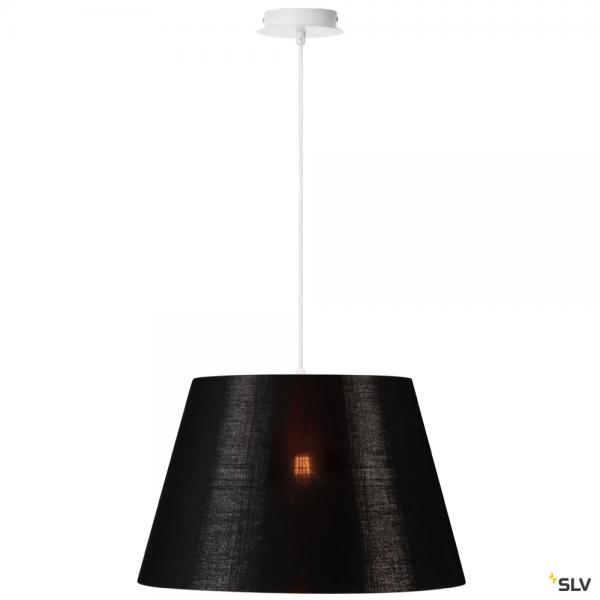 SLV 155561 + 156192 Fenda, Pendelleuchte, weiß/schwarz/kupfer, Ø45,5cm, E27, max.60W