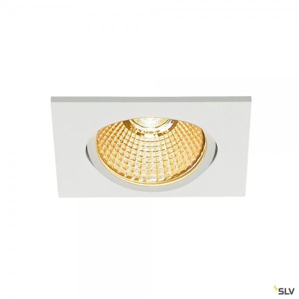 SLV 1003069 New Tria 68, Deckeneinbauleuchte, weiß, dimmbar Triac C+L, LED, 11W, 2700K, 800lm