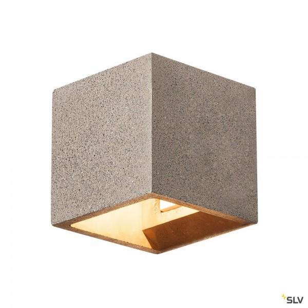 SLV 1000911 Solid Cube, Wandleuchte, Beton, schwarzer Sandstein, up&down, G9, max.25W