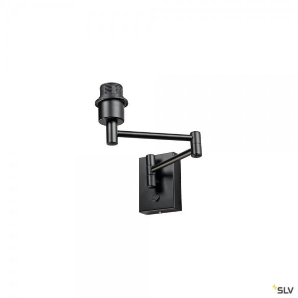 SLV 1001450 Fenda, Basis, Wandleuchte, schwarz, E27, max.40W