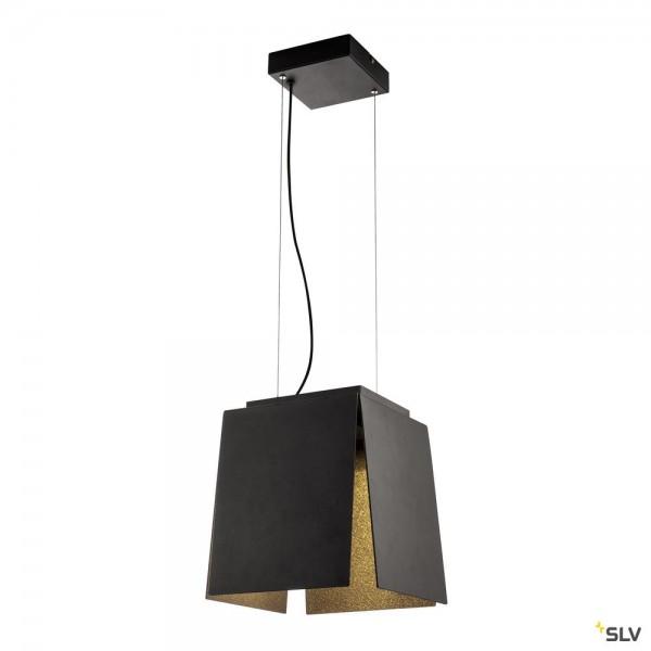 SLV 155960 Avento, Pendelleuchte, schwarz/gold, dimmbar Triac C, LED, 15W, 3000K, 660lm