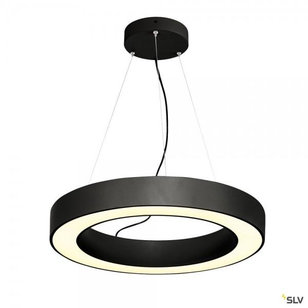 SLV 1002890 Medo Ring 60, Pendelleuchte, schwarz, dimmbar Dali, LED, 34W, 3000K, 2000lm
