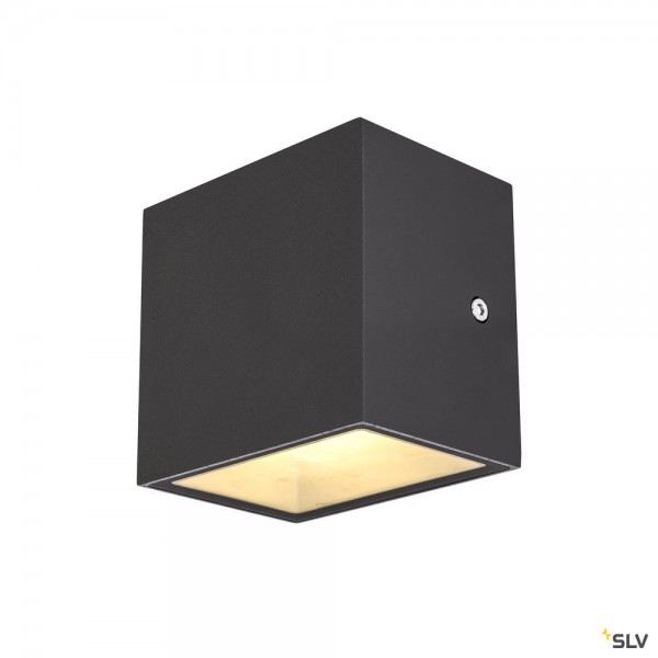 SLV 1002032 Sitra Cube, Wandleuchte, anthrazit, up&down, IP44, LED, 10W, 3000K, 1120lm