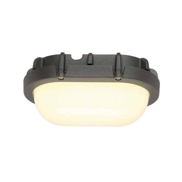SLV 1000287 Biro, Wand- und Deckenleuchte, anthrazit, IP44, LED, 8W, 3000K, 640lm
