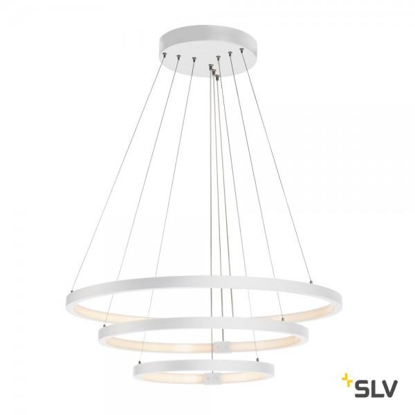 SLV 1002914 One Triple, Pendelleuchte, weiß, dimmbar Dali, LED, 65W, 3000K/4000K, 3900lm/4200lm